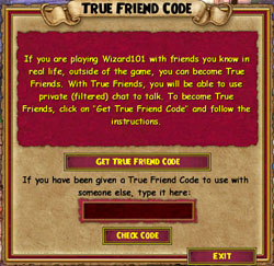 Wizard true friend code also chat and friends free online game rh