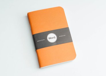 Word Notebook Orange