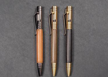 Kyle's Kustom bolt action pens with Micarta barrels