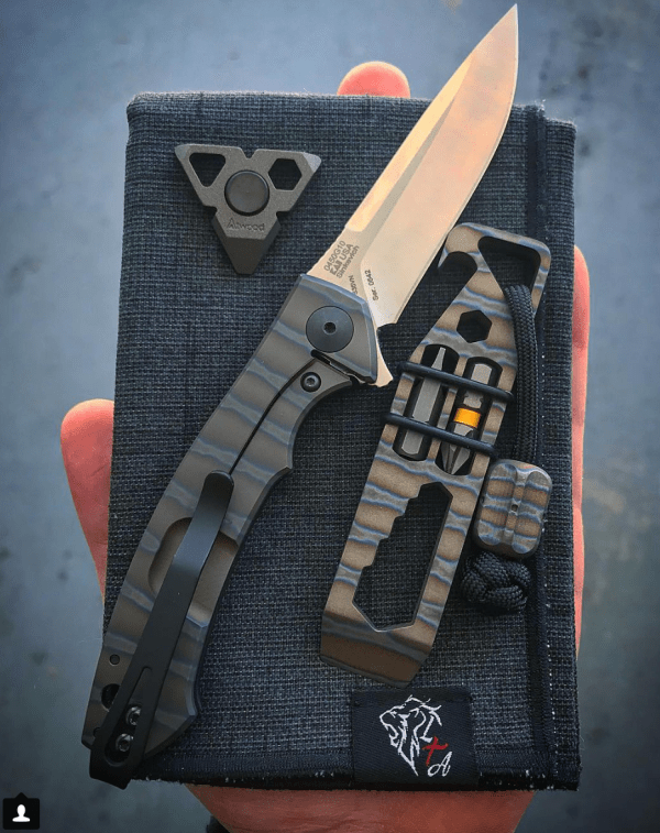 Peter Atwood Spinner, Zero Tolerance knife, TiSurvival tool, Lion Tribe hank