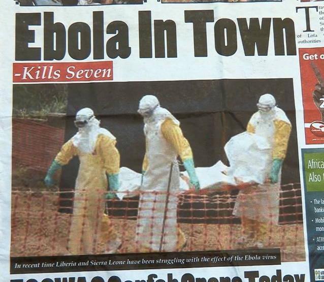 Headline from a Liberian Newspaper Photo by Alexander Ush Wiaplah.