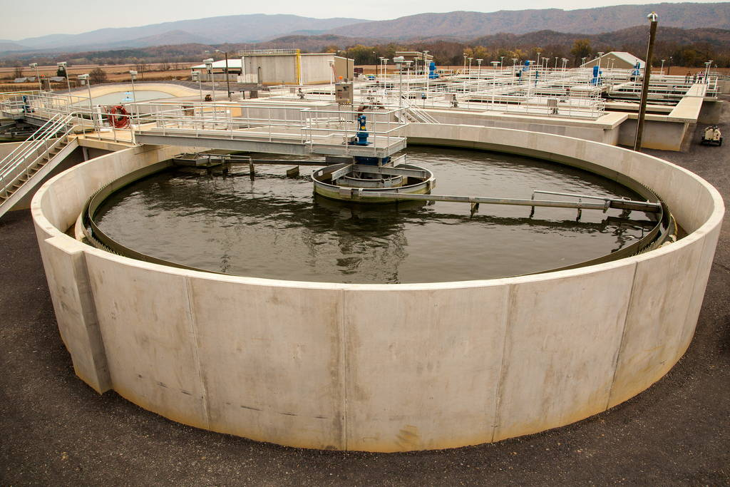 Wastewater treatment plant in Moorefield, WV, October 2013. Photo courtesy of the Chesapeake Bay Program. Click to enlarge.