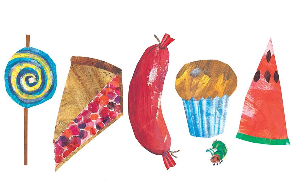 Illustration from The Very Hungry Caterpillar by Eric Carle.