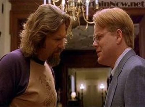 """""""Well dude, we just don't know."""" Screenshot from the film The Big Lebowski."""