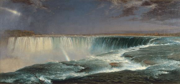 Niagara, Frederic Edwin Church, 1857, oil on canvas. Wikimedia Commons, PD-US.