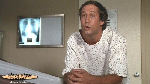 """""""Sure, but, the end was really, very sudden."""" Screenshot from the film Fletch."""