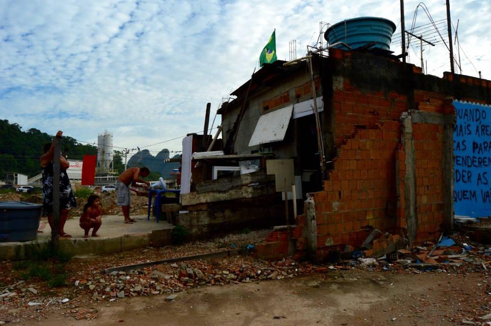 The demolition of a favela home in Rio de Janeiro. Photo by Meg Healy.