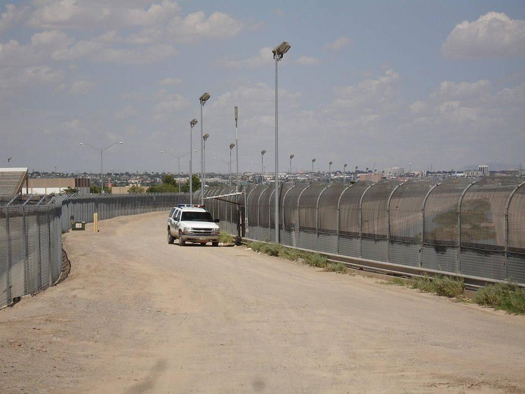 U.S.-Mexico border fence near El Paso, Texas