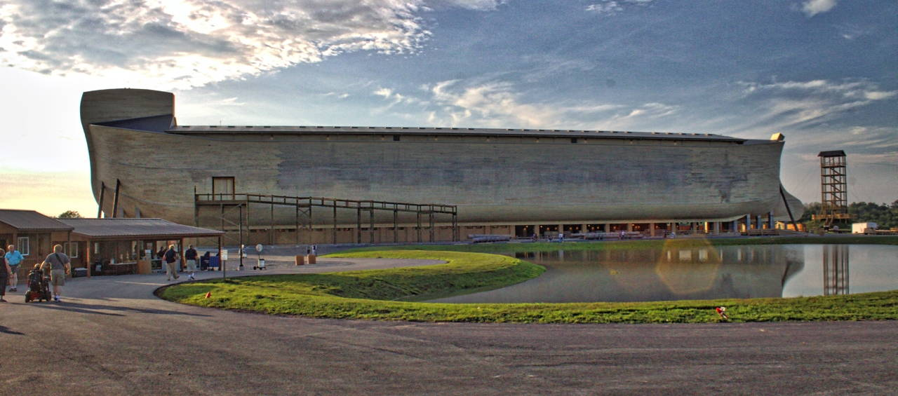 Answers in Genesis Ark Encounter attraction in Williamstown, Kentucky. Photo from Wikimedia Commons.
