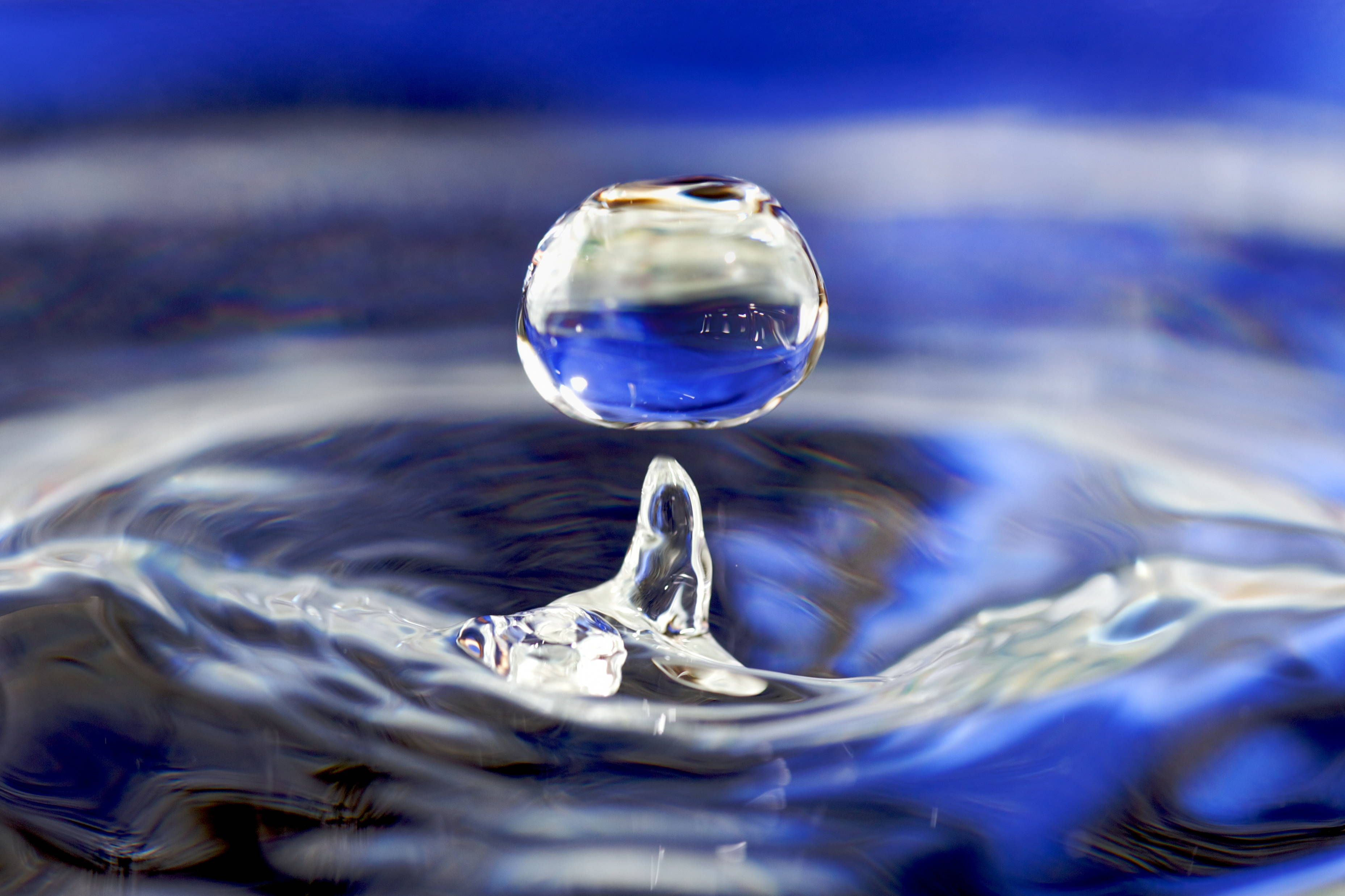 Water drop, 2012. Source: Wikimedia Commons.