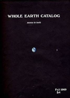 """Maher argues that despite the effort of <em>Whole Earth Catalog</em> editor Stewart Brand to get NASA to take a photo of the Earth in 1969, such images did not become environmental icons and """"culturally green"""" until NASA began depicting global ecological data on images that resembled the Earth from space. Source: <a href=""""https://commons.wikimedia.org/wiki/File:WEC-69F-C.jpg"""" target=""""_blank"""" rel=""""noopener"""">Wikimedia Commons</a>."""