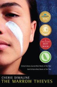 Book cover. Close up image of a boy's face.