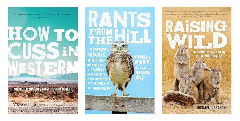 An image displaying the covers of three recent books by Michael Branch.