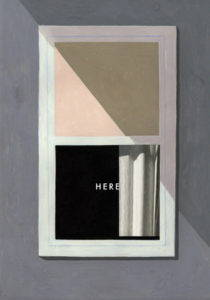 """Book cover of Richard McGuire's """"Here,"""" featuring an open window."""