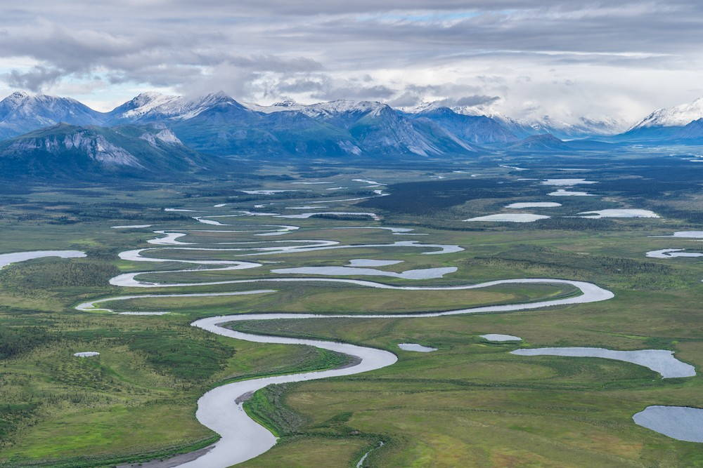 A panoramic view of the arctic national wildlife refuge