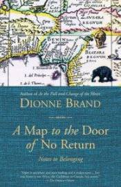 Book cover of Dionne Brand's A Map to the Door of No Return, a map with elephants and other animals visible