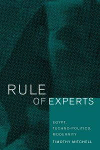 cover of the rule of experts, a green-hued sphinx