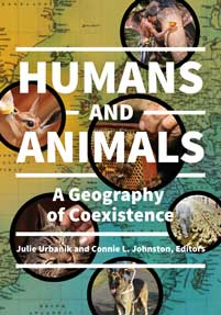 the cover of Connie Johnston's book, Humans and Animals