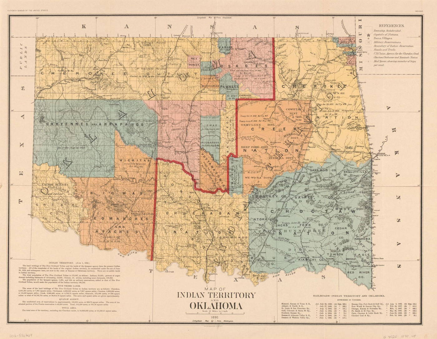 Map of the Oklahoma Territory