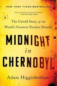 the yellow cover of midnight in chernobyl