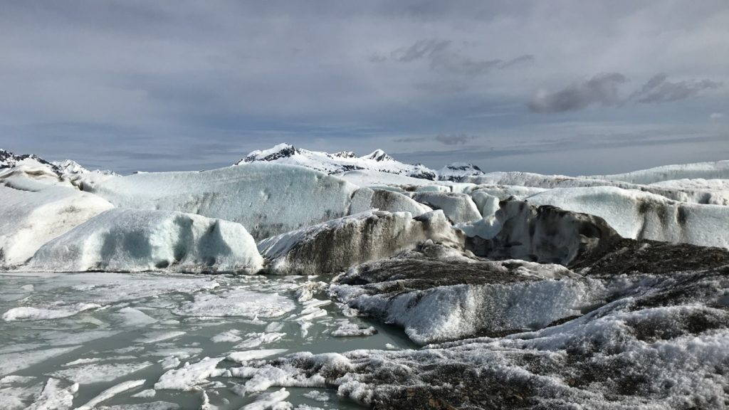 Snow-covered glacier