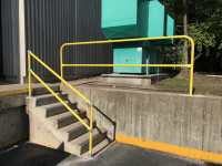Floor Mount Rail and Stairwell Railing Install - EDGE Fall ...