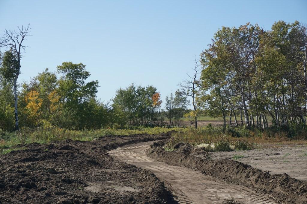 Walking & biking paths under construction