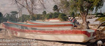 Fishing Village. Punta Allen, Mexico.