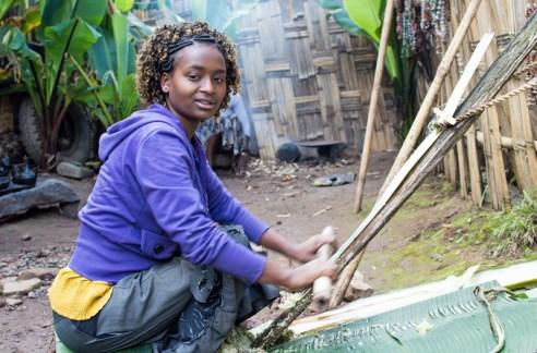 False banana bread, Dorze Village, Guge Mountains, Ethiopia