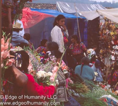 Flower market - Guatemala.