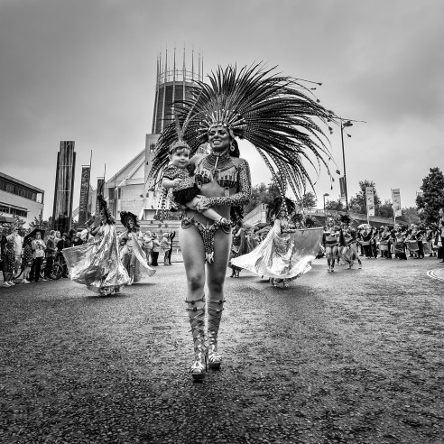 Simone Reeves with Bella at Brazilica 2015 Liverpool