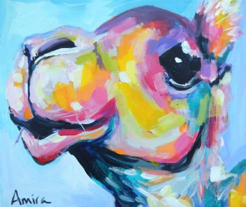 """""""Camel Mini"""" Acrylic on canvas."""