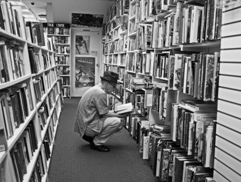One of the best used book stores in Toronto unfortunately now out of business, always some characters browsing.