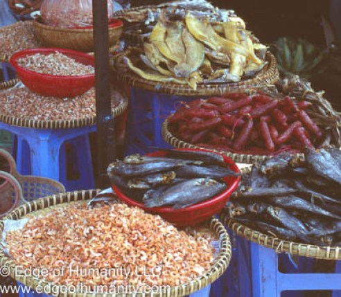 Seafood stand in Vietnam.