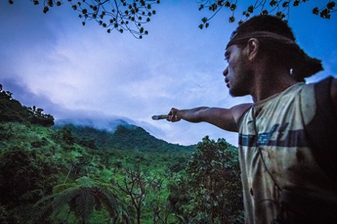 Misty Mountain Hop: On the peninsula of Natewa Tunuloa, Silio Lalaqila, Chairman of the Sisi Initiative Site Support Group (SSG), points to the over 15,000 acres of jungle and forest under their guardianship. These cloud-capped mountains are home to the elusive Silktail (Sisi in Fijian), a native Fijian bird from which the SSG have taken their name and are sworn to protect.