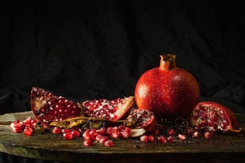 Garnish with a twist -pomegranate