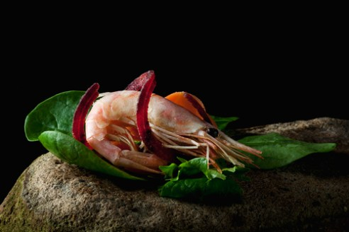 Garnish with a twist prawn