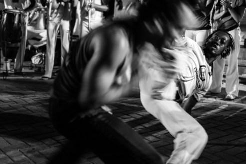 Noche de Capoeira Parque Colón, Zona Colonial, Santo Domingo, Dominican Republic