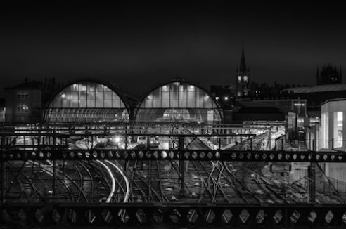 Sleepers Kings Cross station is one of the busiest stations in London, even at night you can see trains coming and going.