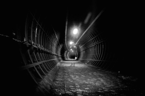 The Ghost There are many disused tunnels running under the Great City of London. Some emptier than others.......
