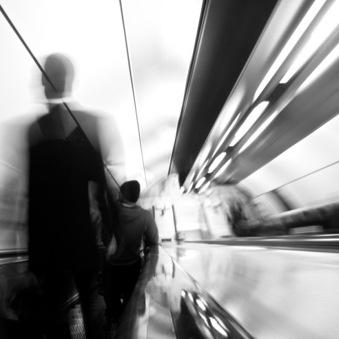 Descent London Bridge Tube station, London, England