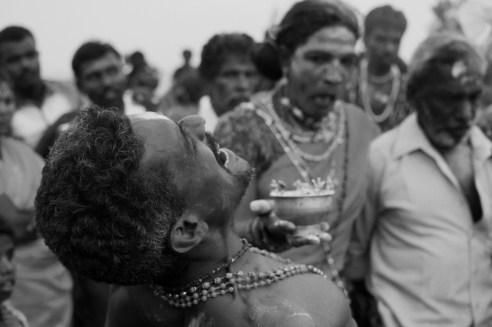 The Emotion seconds Dhasara festival, Kulasekaran Pattinam, India