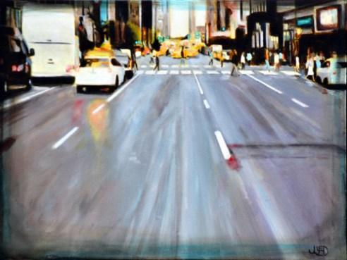"""Looking Forward"", acrylic on canvas, 2015"