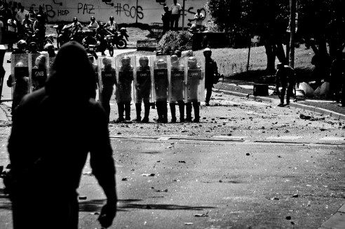 Protests against the government national Caracas, Venezuela