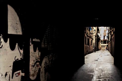 Barri Gòtic Street. Barcelona, Spain