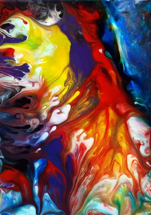 Fluid Painting 56 Acrylic on Canvas & Board