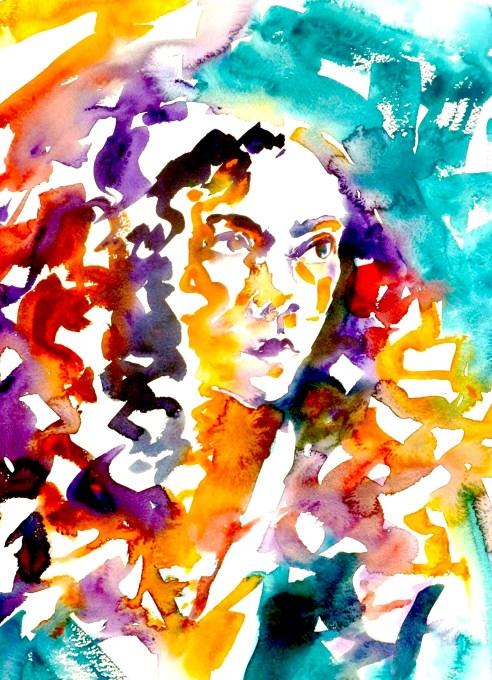 """Jen - watercolour - 30"""" x 22"""""""