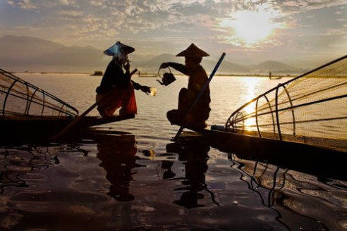 Tea time Inle Lake, Myanmar