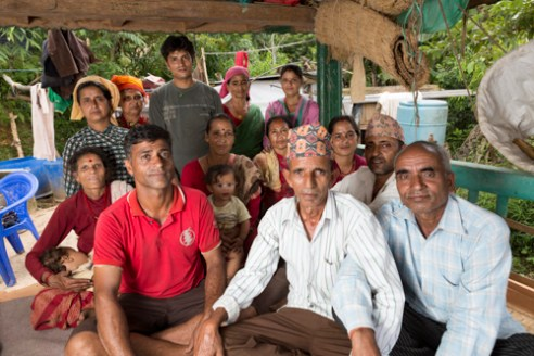 The community of farmers that live and work with Dilli Ram Regmi in Sirubari, rural Nepal.