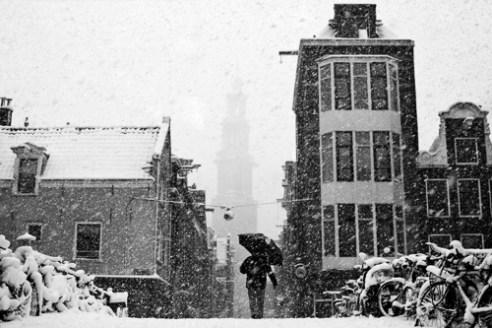 Snowy landscape, Amsterdam